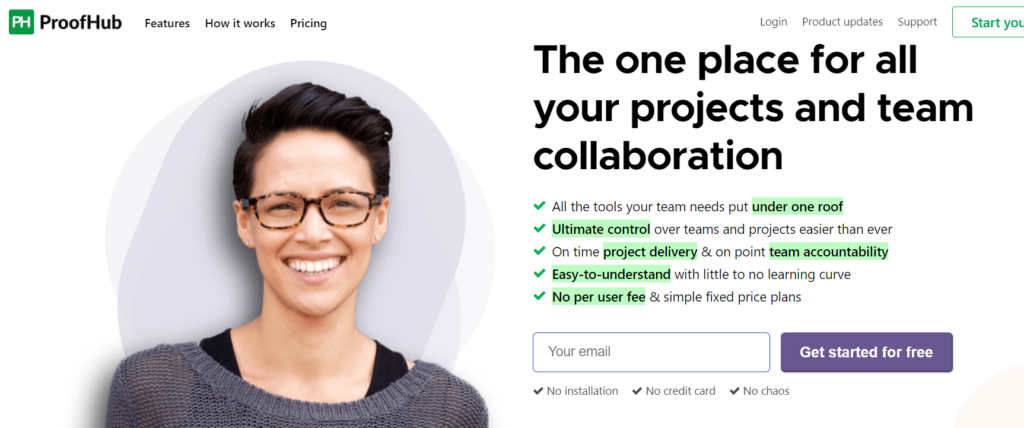 ProofHub  project management