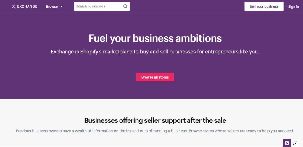 Shopify Exchange